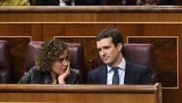Pablo Casado i Dolors Montserrat, al Congrés, la setmana passada
