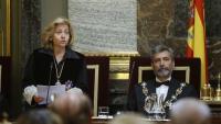 La Fiscal General de l'Estat, Consuelo Madrigal, i el president del Tribunal Suprem i del CGPJ, Carlos Lesmes, a l'obertura de l'any judicial