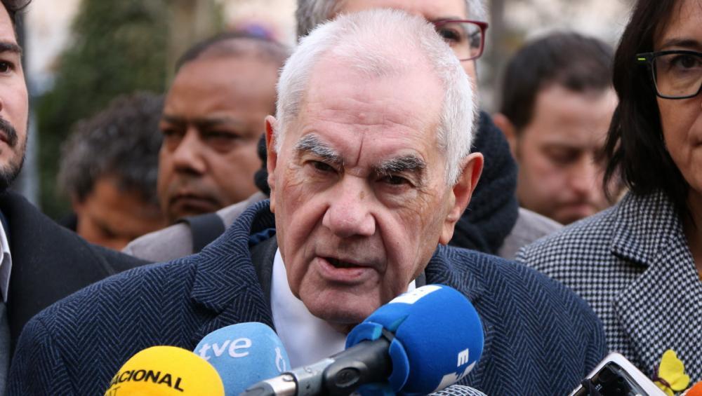 El candidat d'ERC a l'alcaldia de Barcelona, Ernest Maragall, aquest dimarts a Madrid