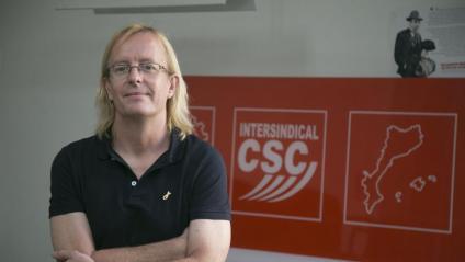 Sergi Perelló, portaveu de la Intersindical-CSC