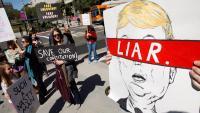 Manifestació contra la proposta de declaració d'emergència que el president Trump va decretar per accelerar la construcció del mur fronterer