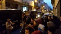 Una imatge del desallotjament a Gràcia