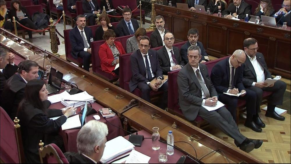 El govern legítim, durant el judici de l'1-O