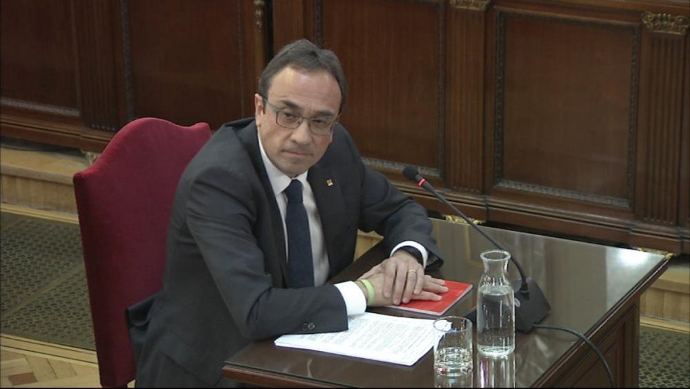 El conseller Josep Rull durant la declaració al Suprem