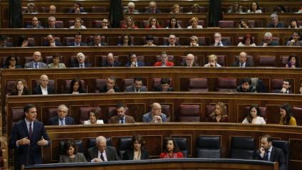 El president del govern espanyol, Pedro Sánchez, durant el ple al Congrés