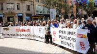 Imatge d'una protesta de pensionistes a Lleida l'any passat