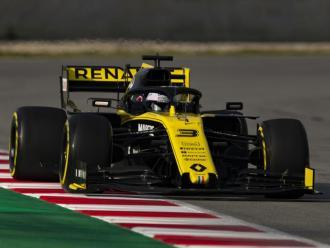 Ricciardo, abans de protagonitzar l'ensurt del dia arran de la pèrdua d'un pla de l'aleró posterior del Renault RS19