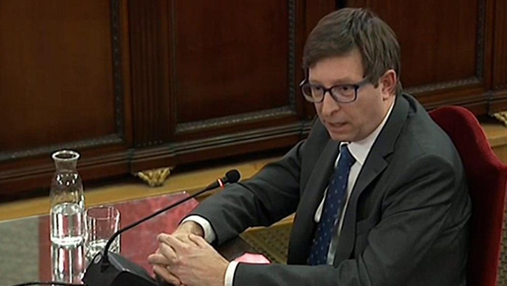 Carles Mundó, conseller de Justícia, durant la seva declaració