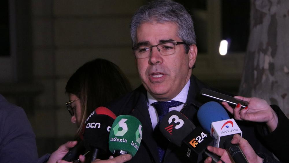 El coordinador de les defenses de JxCat, Francesc Homs