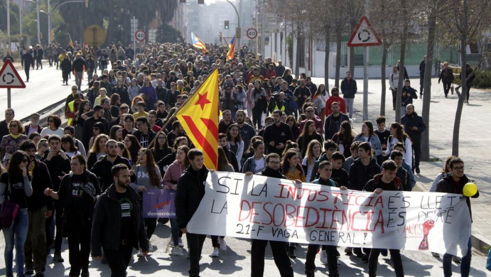 Manifestació a l'avinguda d'Andorra de Tarragona