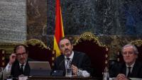 El president del tribunal, Manuel Marchena, en una de les sessions del judici
