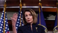 La presidenta de la Cambra de Representants, Nancy Pelosi, en una intervenció al Congrés