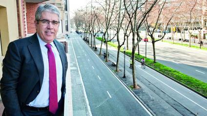 Francesc Homs, divendres passat al seu despatx de Barcelona