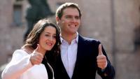 Arrimadas i Rivera ,  ahir a Madrid, on ella va anunciar que seria candidata per Barcelona