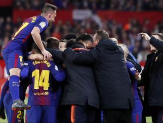 El Barça va arrencar un punt del Pizjuán en la visita del passat abril, gràcies als dos gols de Suárez i Messi en el tram final i en només un minut