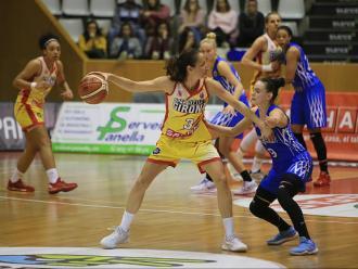 Laia Palau dimecres a Girona en el darrer partit europeu