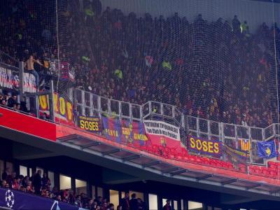 El sector de l'afició del Barça desplaçada dimarts a Lió