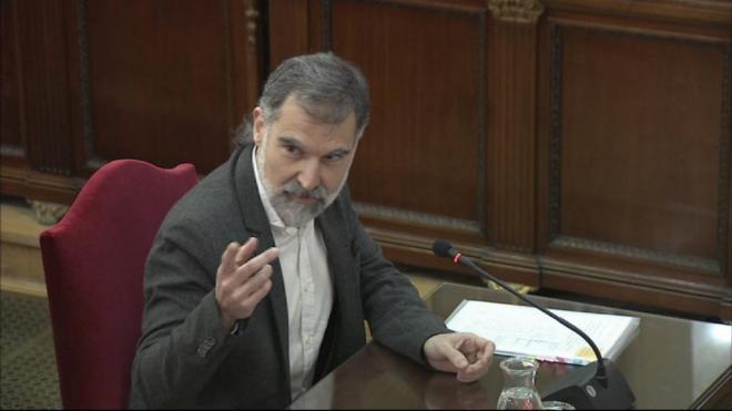 El president d'Òmnium Cultural, Jordi Cuixart, declarant al judici de l'1-O el 26 de febrer del 2019