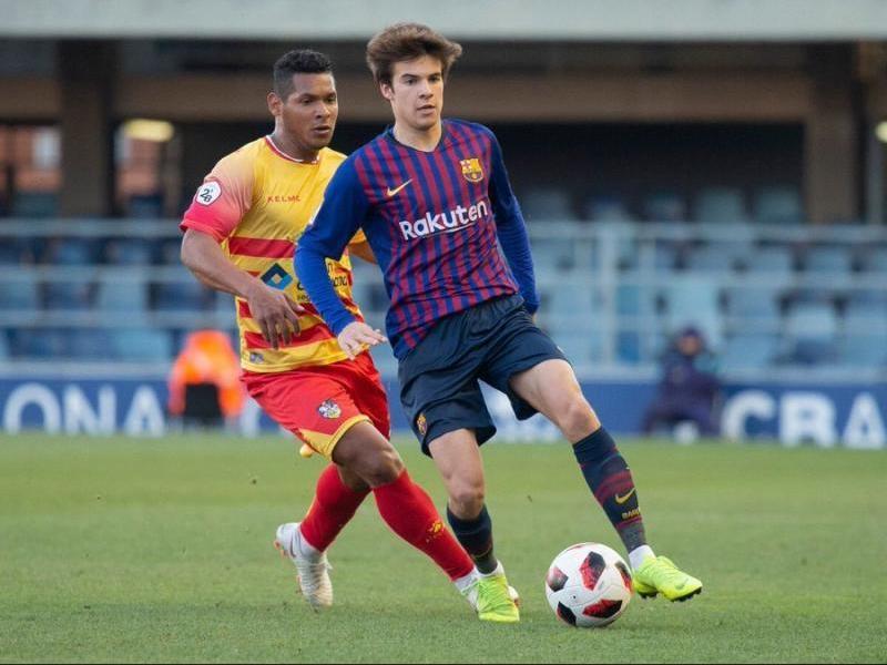 Riqui Puig, en un partit amb el Barça B