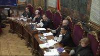Els magistrats de la sala del Tribunal Suprem on se celebra el judici de l'1-O