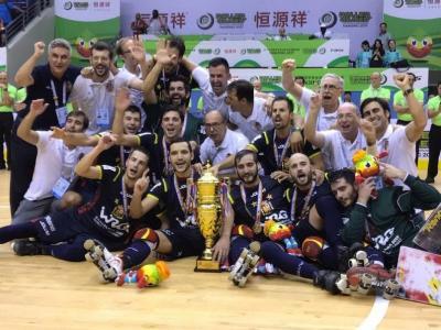 La selecció espanyola d'hoquei sobre patins que va guanyar el mundial del 2017
