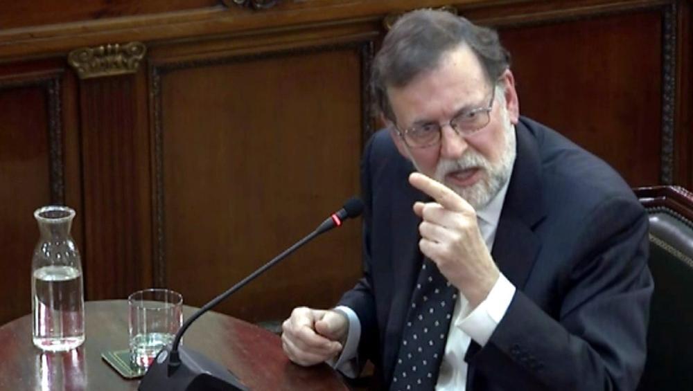 L'expresident del govern espanyol Mariano Rajoy, el dia que va declarar com a testimoni al Suprem