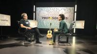 Edgar Massegú als estudis d'El Punt Avui TV amb el periodista Xavier Castillón