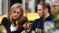Mostres de dolor al memorial de les víctimes de l'atemptat de Christchurch, a Nova Zelanda