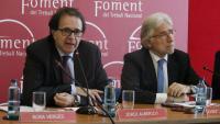 Jordi Alberich i Josep Sánchez Llibre, ahir a la seu de Foment del Treball