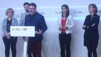 Nuet, ahir amb la portaveu, Vilalta, i els també candidats d'ERC Rufián, Cortès i Telechea