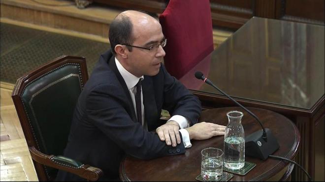 L'exsubsecretari d'Hisenda Felipe Martínez Rico, ahir en la seva declaració al Suprem