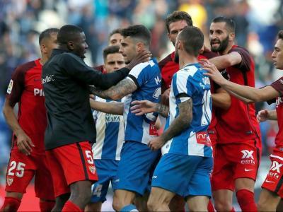 El partit va acabar amb picabaralla final, i Sergi Darder i el porter visitant, Juan Soriano, expulsats per doble groga