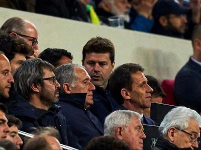 El tècnic argentí a la llotja del Camp Nou durant el partit entre el Barça i l'Olympique de Lió