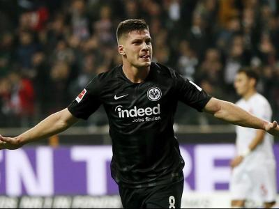 Jovic, celebrant un gol contra el Fortuna Düsseldorf