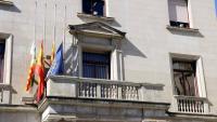 El balcó de l'Ajuntament de Figueres sense la pancarta