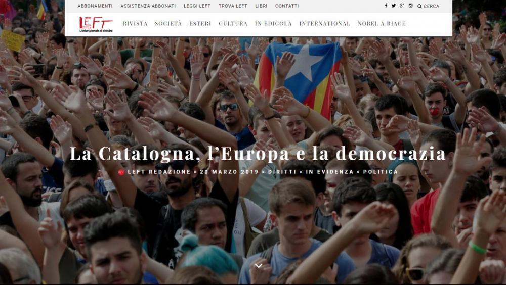 La web de la publicació Left