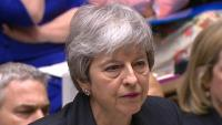 La primera ministra, Theresa May,, aquest dimecres al Parlament de Londres