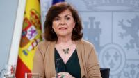 La vicepresidenta del govern espanyol Carmen Calvo