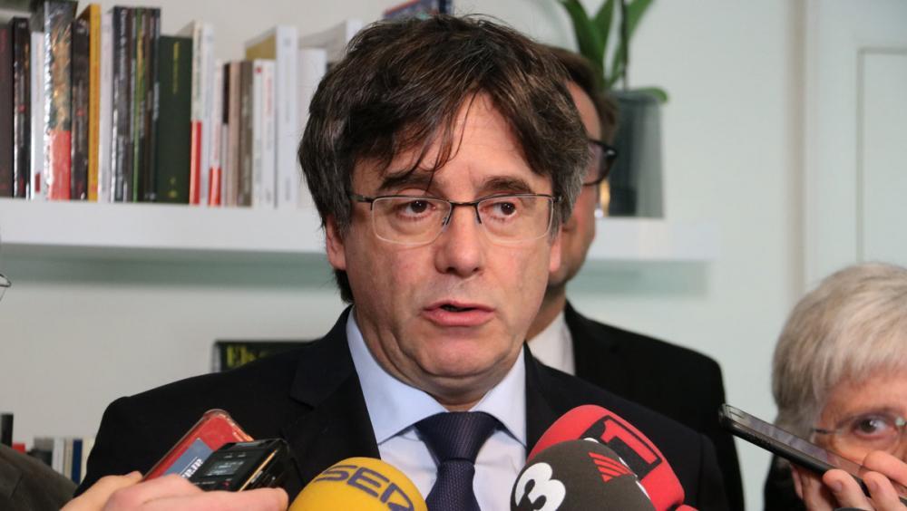 L'expresident de la Generalitat Carles Puigdemont, en una compareixença recent