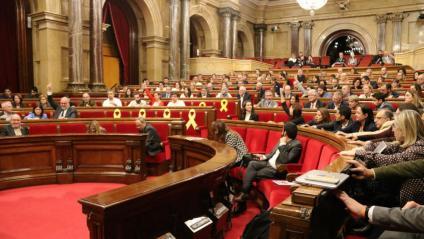 El ple del Parlament durant una votació