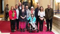 La consellera de Salut, Alba Vergés, s'ha reunit amb persones afectades per la malaltia anomenada pell de papallona