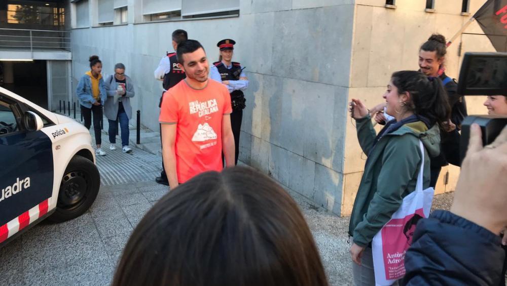 Jordi Alemany, a la sortida del jutjat després de negar-se a declarar