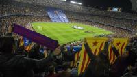 Imatge del Camp Nou en un partit de la Champions
