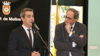 Joan Ramon Casals, exalcalde de Molins de Rei, amb el president de la Generalitat Quim Torra