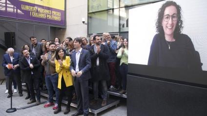 ERC va reunir ahir la direcció i els principals càrrecs electes en un acte a la seu on també va intervenir Marta Rovira