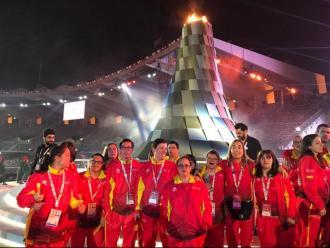 Integrants de la delegació espanyola en la inauguració