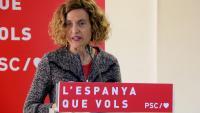 La candidata del PSC per Barcelona a les eleccions al Congrés, Meritxell Batet