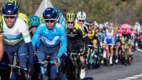 Valverde i Quintana, en primer terme durant la Volta del 2018. El múrcia s'ha imposat en les dues últimes edicions, mentre que el colombià va imposar-se en la del 2016