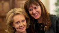 Mariàngels Vilallonga i Laura Borràs en el relleu a la conselleria