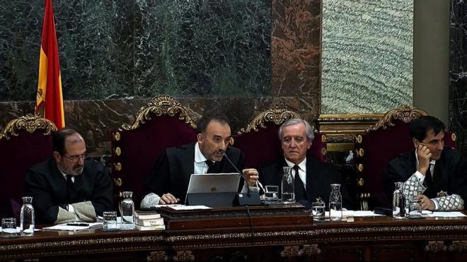Imatge d'alguns dels magistrats del tribunal que jutja els fets de l'1-O